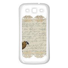 Tag Bird Samsung Galaxy S3 Back Case (white)