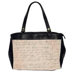 Letter Oversize Office Handbag (2 Sides)