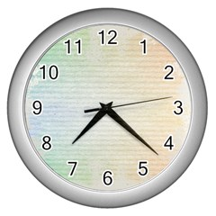 Page Spash Wall Clock (silver) by vintage2030