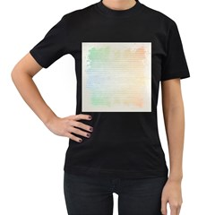 Page Spash Women s T Shirt (black) (two Sided)