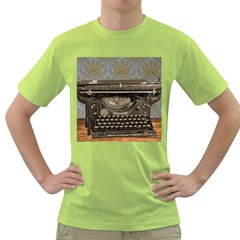 Typewriter Green T Shirt