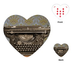 Typewriter Playing Cards (heart)
