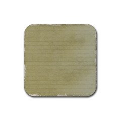 Old Letter Rubber Coaster (square)