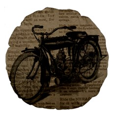 Bicycle Letter Large 18  Premium Round Cushions