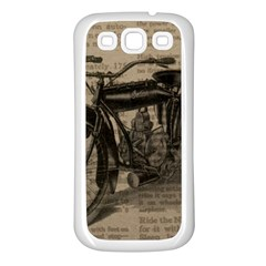 Bicycle Letter Samsung Galaxy S3 Back Case (white)