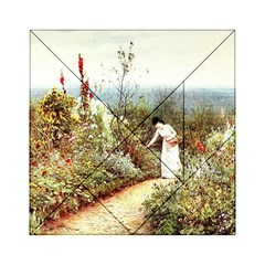 Lady And Scenery Acrylic Tangram Puzzle (6  X 6 ) by vintage2030