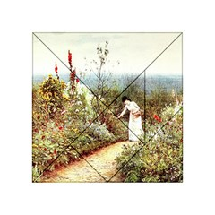 Lady And Scenery Acrylic Tangram Puzzle (4  X 4 ) by vintage2030