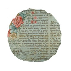 Rose Book Page Standard 15  Premium Round Cushions