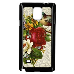 Flower Bird Samsung Galaxy Note 4 Case (black)