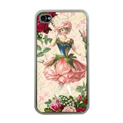 Flower Girl Apple Iphone 4 Case (clear)