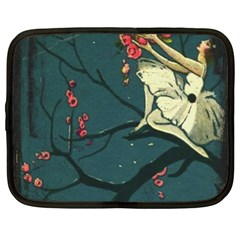 Girl And Flowers Netbook Case (xl)