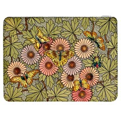 Flower And Butterfly Samsung Galaxy Tab 7  P1000 Flip Case
