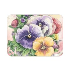 Lowers Pansy Double Sided Flano Blanket (mini)