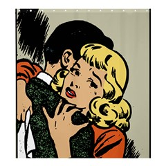 Hugging Retro Couple Shower Curtain 66  X 72  (large)