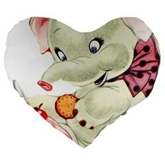 Elephant 1650653 1920 Large 19  Premium Heart Shape Cushions