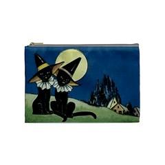 Black Cat 1462738 1920 Cosmetic Bag (medium)