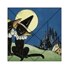 Black Cat 1462738 1920 Acrylic Tangram Puzzle (6  X 6 ) by vintage2030