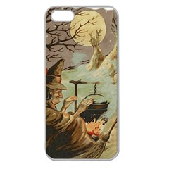 Witch 1461958 1920 Apple Seamless Iphone 5 Case (clear)