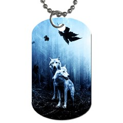 Wolfs Dog Tag (two Sides)