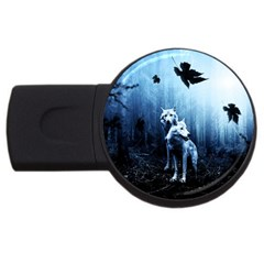 Wolfs Usb Flash Drive Round (4 Gb)