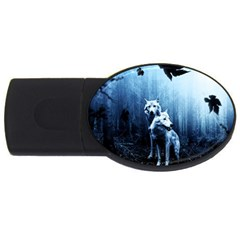 Wolfs Usb Flash Drive Oval (4 Gb)