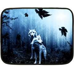 Wolfs Double Sided Fleece Blanket (mini)