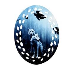 Wolfs Ornament (oval Filigree)