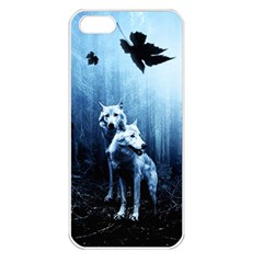 Wolfs Apple Iphone 5 Seamless Case (white)