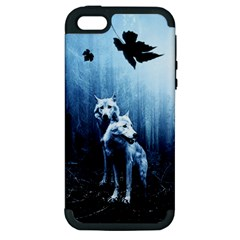 Wolfs Apple Iphone 5 Hardshell Case (pc+silicone)