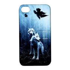 Wolfs Apple Iphone 4/4s Hardshell Case With Stand