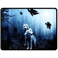 Wolfs Double Sided Fleece Blanket (large)