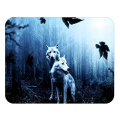 Wolfs Double Sided Flano Blanket (large)