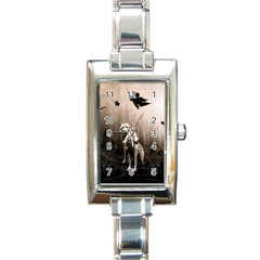 Wolfs Rectangle Italian Charm Watch