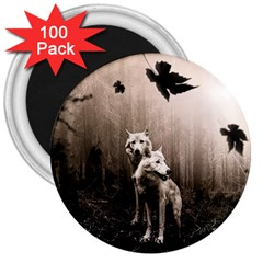 Wolfs 3  Magnets (100 Pack)