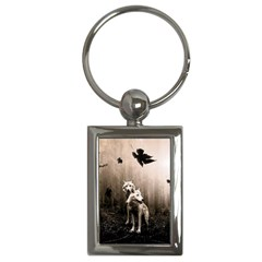Wolfs Key Chains (rectangle)