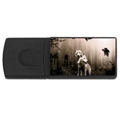 Wolfs Rectangular Usb Flash Drive