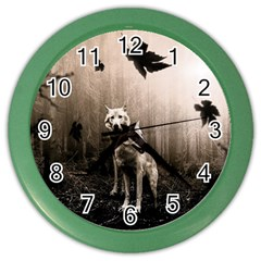 Wolfs Color Wall Clock