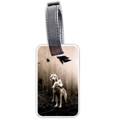 Wolfs Luggage Tags (one Side)