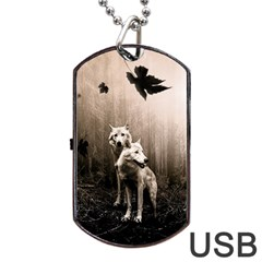Wolfs Dog Tag Usb Flash (two Sides)
