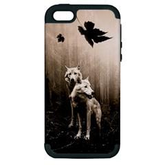 Wolfs Apple Iphone 5 Hardshell Case (pc+silicone)