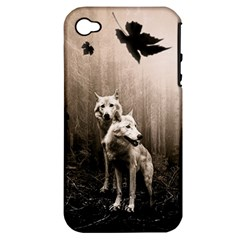 Wolfs Apple Iphone 4/4s Hardshell Case (pc+silicone)