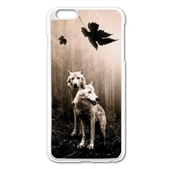 Wolfs Apple Iphone 6 Plus/6s Plus Enamel White Case