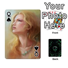 Queen Characters By Ashleyd   Playing Cards 54 Designs (rectangle)   Jcyxh313jvvx   Www Artscow Com Front - SpadeQ