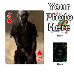 Jack Characters By Ashleyd   Playing Cards 54 Designs (rectangle)   Jcyxh313jvvx   Www Artscow Com Front - HeartJ