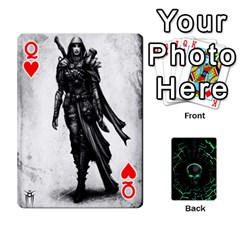 Queen Characters By Ashleyd   Playing Cards 54 Designs (rectangle)   Jcyxh313jvvx   Www Artscow Com Front - HeartQ
