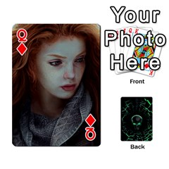 Queen Characters By Ashleyd   Playing Cards 54 Designs (rectangle)   Jcyxh313jvvx   Www Artscow Com Front - DiamondQ