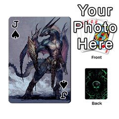 Jack Characters By Ashleyd   Playing Cards 54 Designs (rectangle)   Jcyxh313jvvx   Www Artscow Com Front - SpadeJ