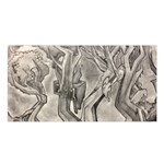Maxwell James Black and white surrealistic trees Satin Shawl