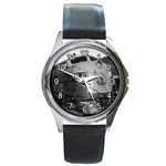 JERSEY CENTRAL LINES DIESEL ENGINE ROUND METAL WATCH