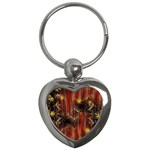 Mary Jane burgundy black and gold bedsheets  Key Chains (Heart)